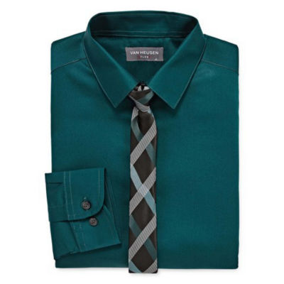 Van Heusen Shirt and Tie Set Boys 4-20 Regular & Husky