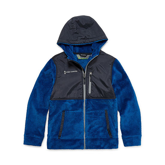 Free Country Fleece Lightweight Jacket-Big Kid Boys