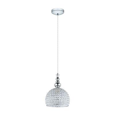 Eglo Bonares 1-Light Chrome Pendant Ceiling Light