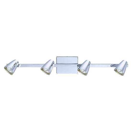 Eglo Corbera 4-Light 120V Chrome Track Light Ceiling Light