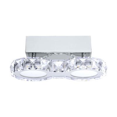Eglo Corliano LED 4 inch Chrome Flush Mount Ceiling Light