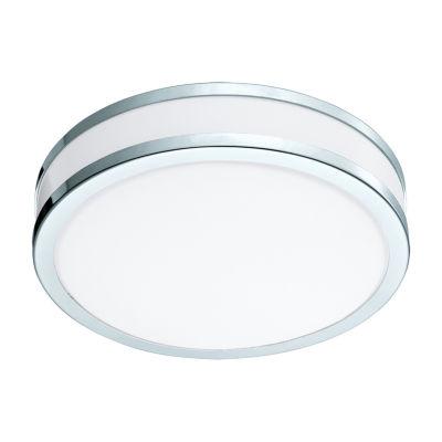 Eglo Palermo II LED 11 inch Chrome and White FlushMount Ceiling Light