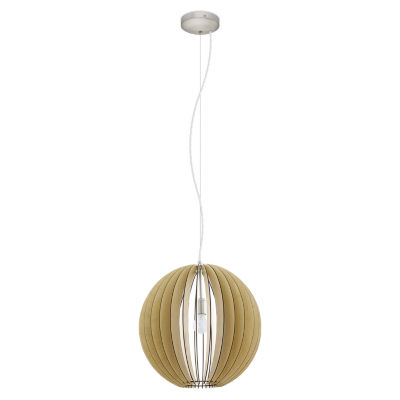 Eglo Cossano 1-Light 20 inch Matte Nickel PendantCeiling Light
