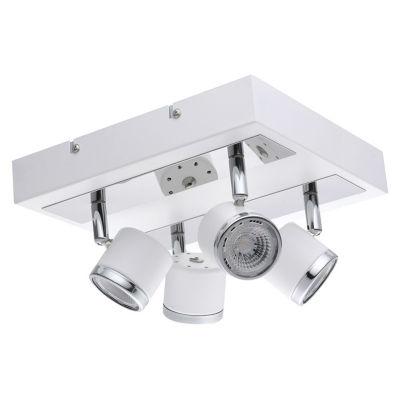 Eglo Pierino 1 4-Light 120V White and Chrome TrackLight Ceiling Light