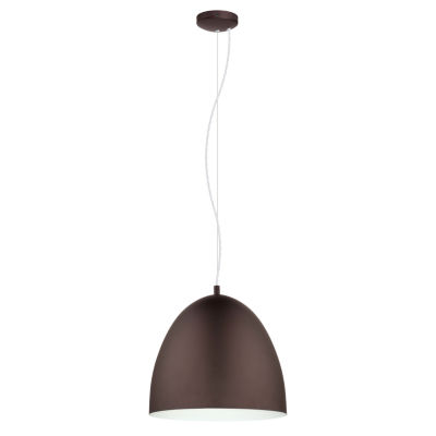 Eglo Sarabia 1-Light Chocolate Brown Pendant Ceiling Light