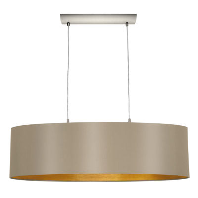 Eglo Maserlo 2-Light 9 inch Matte Nickel Pendant Ceiling Light