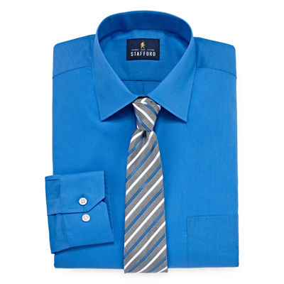 Stafford Box Shirt And Tie Set Big And Tall