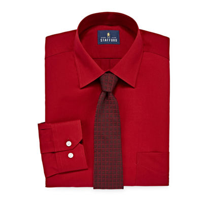 Stafford Box Shirt And Tie Set Big And Tall Shirt + Tie Set