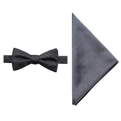 JF J.Ferrar Plaid Bow Tie Set