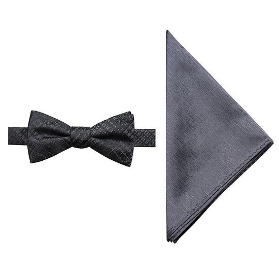 Jf Jferrar Plaid Bow Tie Set