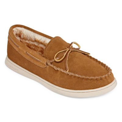 Rockport® Suede Bow Moccasin Slippers