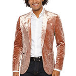JF J.Ferrar Velvet Stretch Super Slim Fit Sport Coat