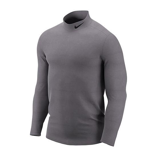 Nike Mens Mock Neck Long Sleeve Thermal Top