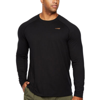 Copper Fit Long Sleeve Crew Neck T-Shirt-Big and Tall