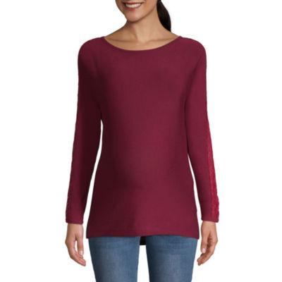 Planet Motherhood Side Lace Sweater - Maternity