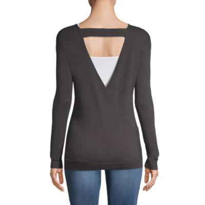Planet Motherhood Scoop Neck Sweater - Maternity