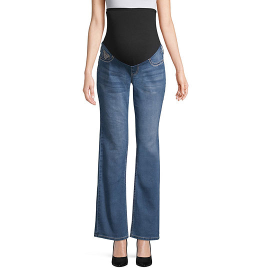 Love Indigo Over Belly Jeans - Maternity