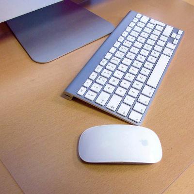 Desktex Pack of 2 Strong Polycarbonate Rectangular Desk Protector Mats