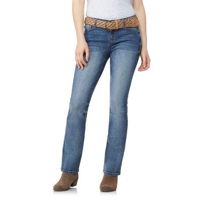 Wallflower Bootcut Jeans with Belt -Juniors