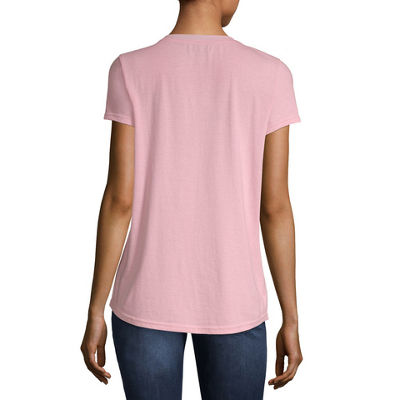 Us Polo Assn.-Womens Scoop Neck Short Sleeve T-Shirt Juniors