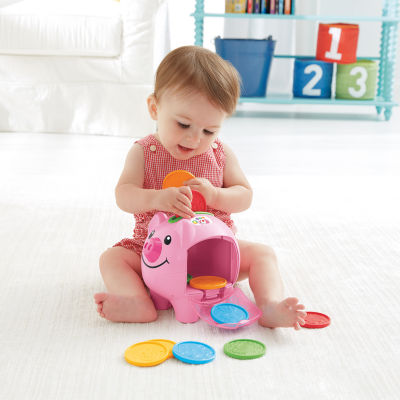 Fisher-Price Laugh & Learn Smart Stages Piggy Bank 11-pc. Interactive Toy - Unisex