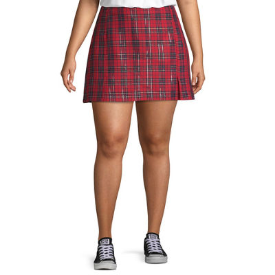 Arizona Womens Short Pleated Skirt Juniors Plus