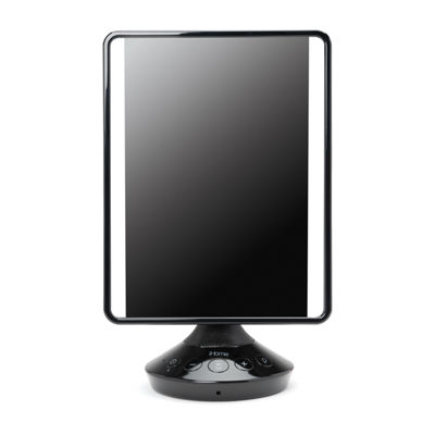 "iHome iCVBT2 7"" x 9"" Flat Panel Adjustable Vanity Mirror with Bluetooth Audio"