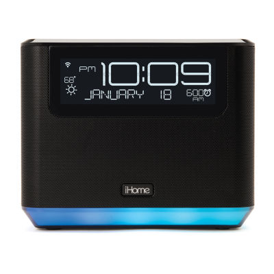 iHome iAVS16 Bedside Clock System featuring Far-Field Alexa Voice Service with Bluetooth and USB Charging