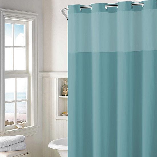 Hookless Plain Weave Shower Curtain Set