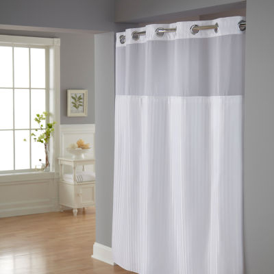 Hookless Classic Herringbone Shower Curtain Set