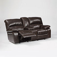 Signature Design by Ashley Damacio Glider Reclining Loveseat Deals