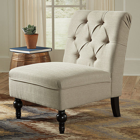 Signature Design by Ashley® Degas Diamond-Tufted Armless Accent Chair