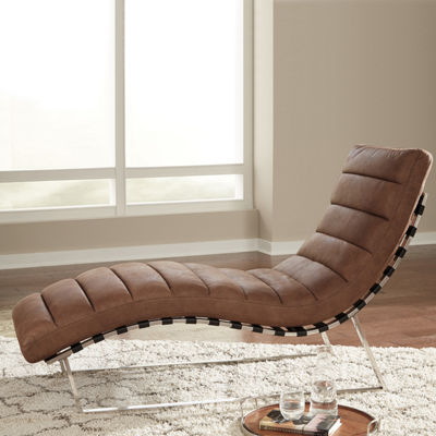 Signature Design by Ashley® Elestra Channel-Tufted Chaise Lounge