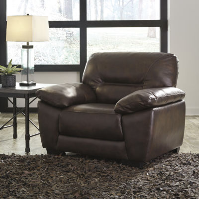 Signature Design by Ashley® Mellen Channel-Tufted Leather Accent Chair