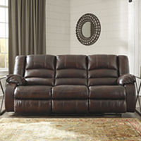 Deals on Signature Design by Ashley Levelland Power Reclining Sofa