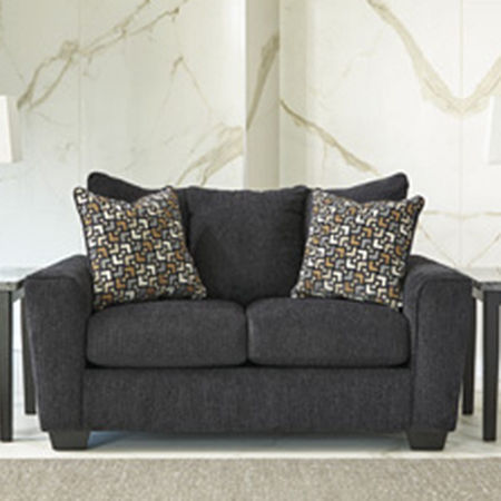 Signature Design by Ashley Benchcraft Wixon Loveseat, One Size , Gray