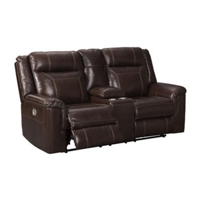 Signature Design by Ashley® Wyline Power Reclining Loveseat with Console