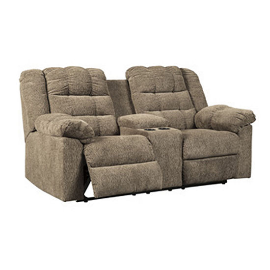 Awesome Signature Design By Ashley Workhorse Reclining Loveseat With Console Pabps2019 Chair Design Images Pabps2019Com