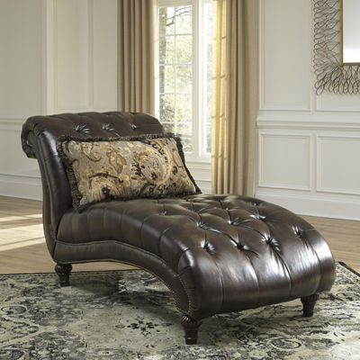 Signature Design by Ashley® Winnsboro Button-Tufted Nailhead Trim Chaise Lounge