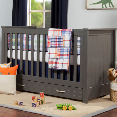 DaVinci Asher 3-In-1 Convertible Crib With Toddler Bed Conversion Kit Baby Crib - Painted