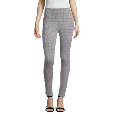 Liz Claiborne Plaid Jacquard Leggings