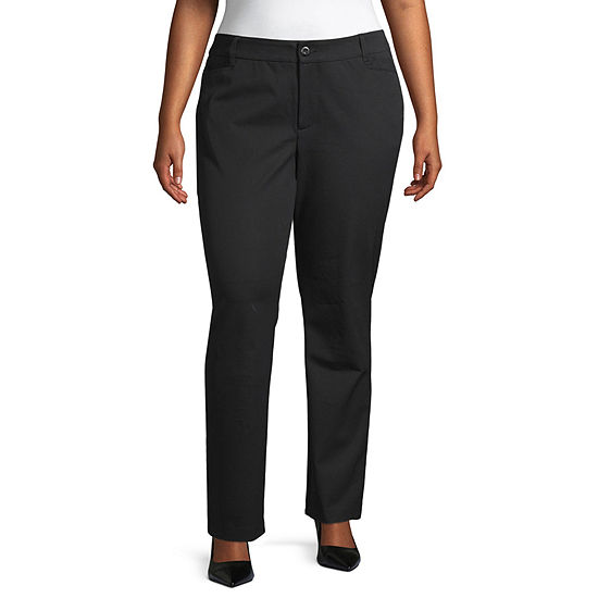 St. John's Bay Straight Fit Straight Trouser