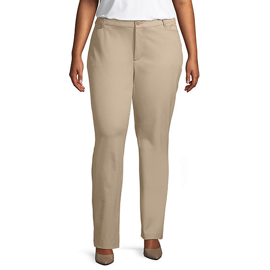 St. John's Bay Secretly Slender Bi-stretch Straight Leg Pant- Plus