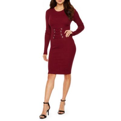 Bold Elements Long Sleeve Sweater Dress