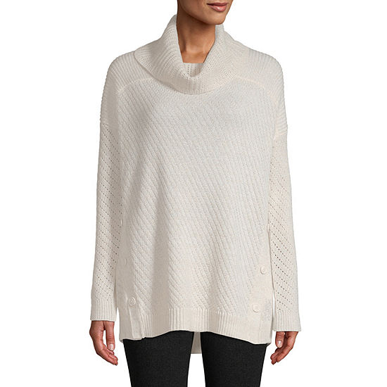 840b13b95 St Johns Bay Long Sleeve Cowl Neck Pullover Sweater JCPenney