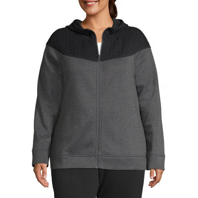 St. John's Bay Active Quilted Texture Mix Jacket - Plus
