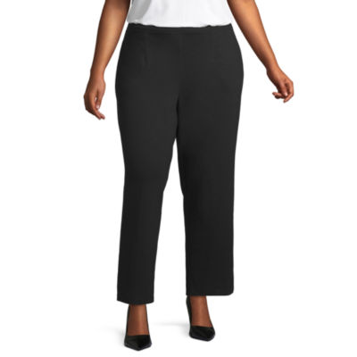 Alfred Dunner Travel Light Knit Pant - Plus