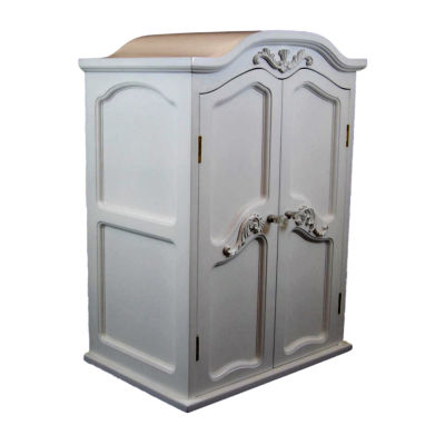 The Queen's Treasures 18 Inch Doll White Wardrobe Armoire Trunk