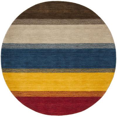 Safavieh Himalaya Collection Ilarion Striped RoundArea Rug