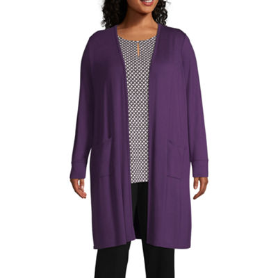 Liz Claiborne Studio Duster Cardigan - Plus